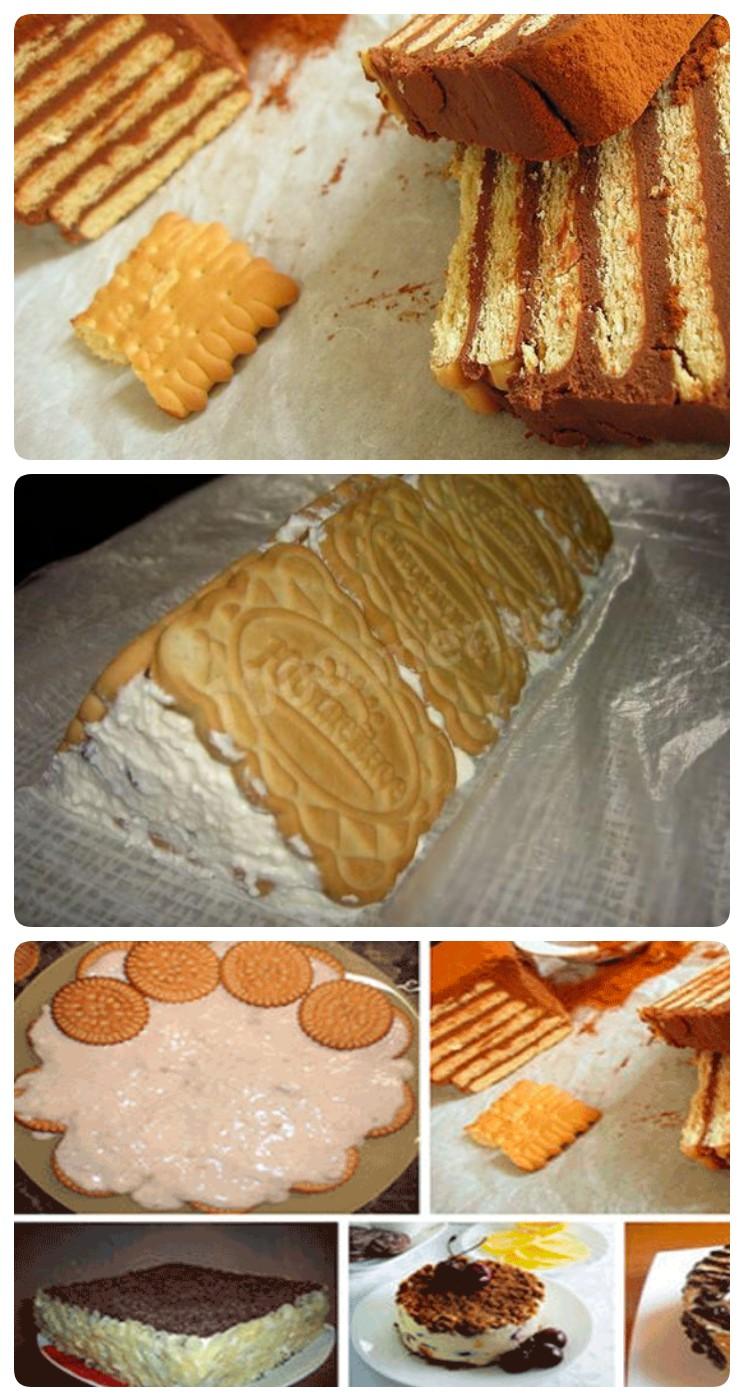 Легкие торты из печенья без выпечки. 5 лучших рецептов!