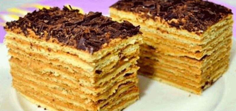 Торт Микадо с карамельным кремом объедение!
