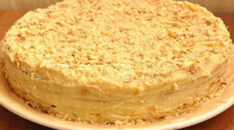 Домашний торт «Наполеон» с заварным кремом. Очень просто и вкусно