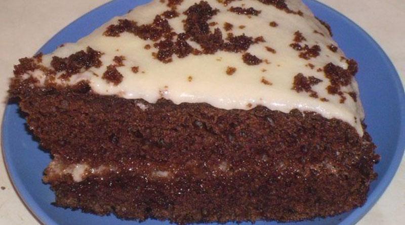 Вкусный шоколадный торт на кефире