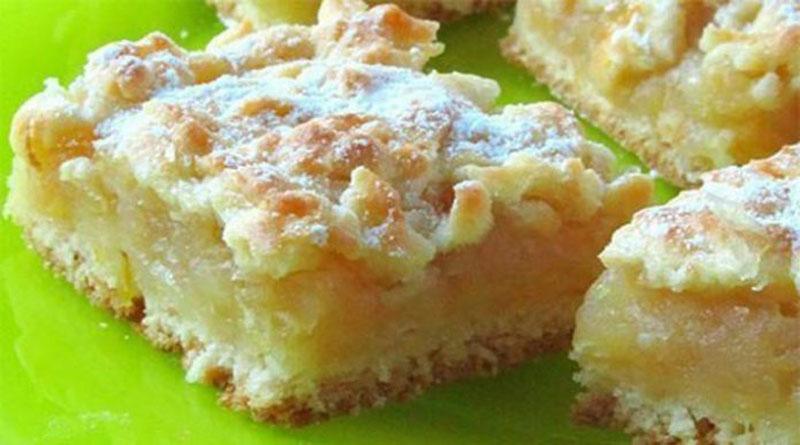 Нежный пирог с сочной, лимонно-яблочной начинкой