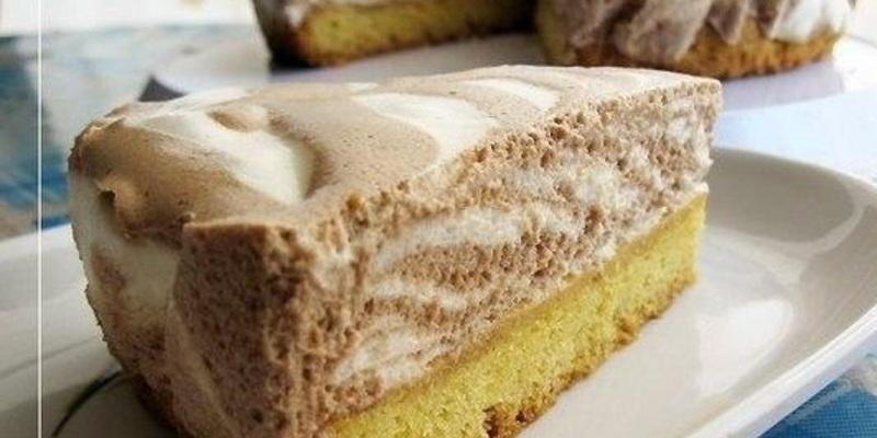 Торт «Зебра» — простой и очень вкусный